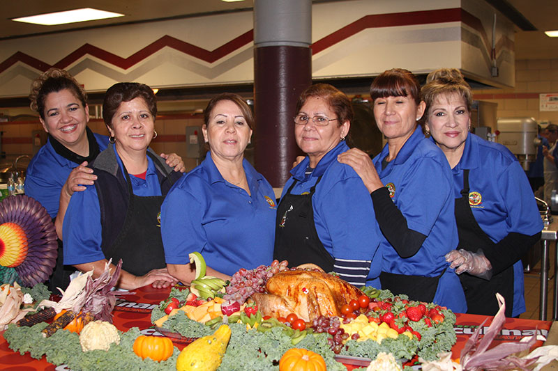 Thanksgiving celebrated at Sunnyside Unified this week ThanksgivingFoodServiceStaff