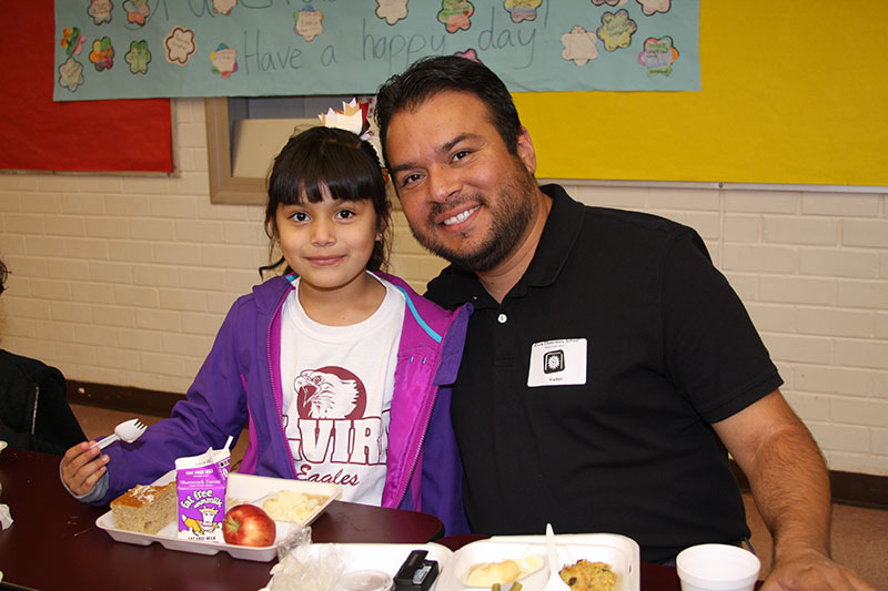 Thanksgiving celebrated at Sunnyside Unified this week ThanksgivingStudentAndParent