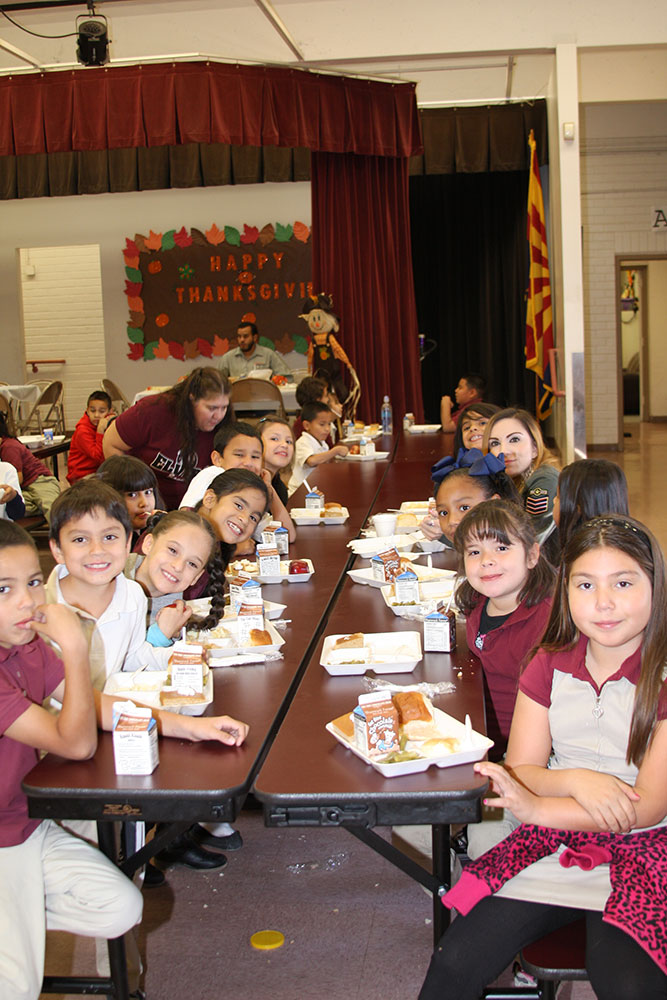 Thanksgiving celebrated at Sunnyside Unified this week ThanksgivingStudents