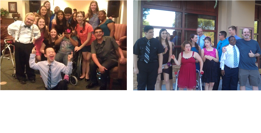 The Sol Buddies From Corona Del Sol High School During Last Year's Fall Festival At Sunrise Assisted Living, Left, And The Sol Buddies Go Out To Dinner Before The Homecoming Dance This Year, Right. The Sol Buddies Club Was Created To Facilitate And Build Friendships Among General Education Students And Special Education Students, While Promoting Awareness And Acceptance Of All People In Our Community With Special Needs. Photo Courtesy Of Tempe Union High School District