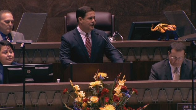 Gov. Ducey talks about priorities during State of the State Address, + Video Arizona-Gov.-Doug-Ducey-2016State-of-the-State-Address-from-CBS5-KPHO