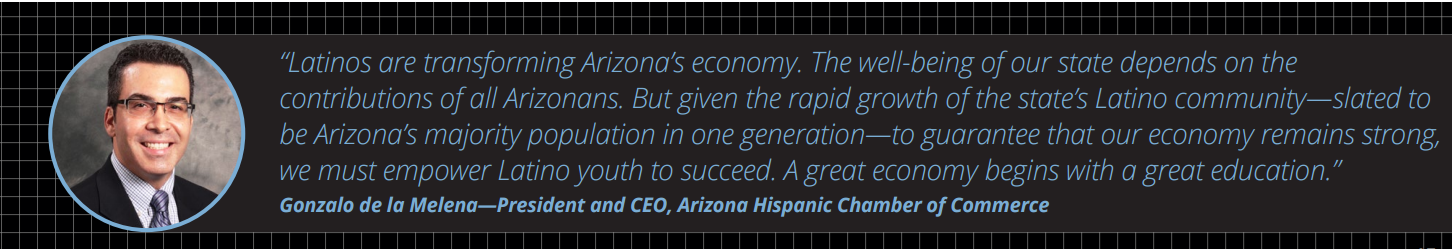 More college degree holders could double Arizona's economic growth Gonzalo-de-le-Melena-quote