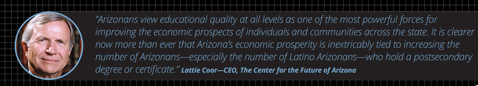 More college degree holders could double Arizona's economic growth Lattie-Coor-Quote
