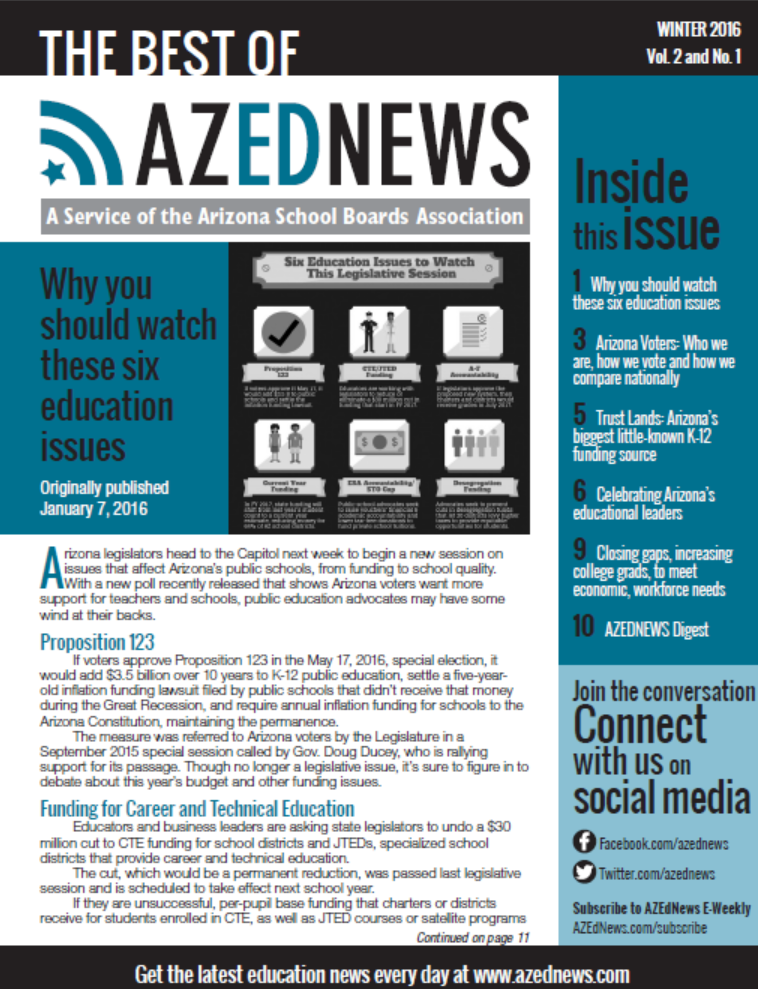The Best Of AZEdNews: Winter 2016
