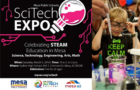 See the future of STEAM the SciTech Expo on Saturday 480x310