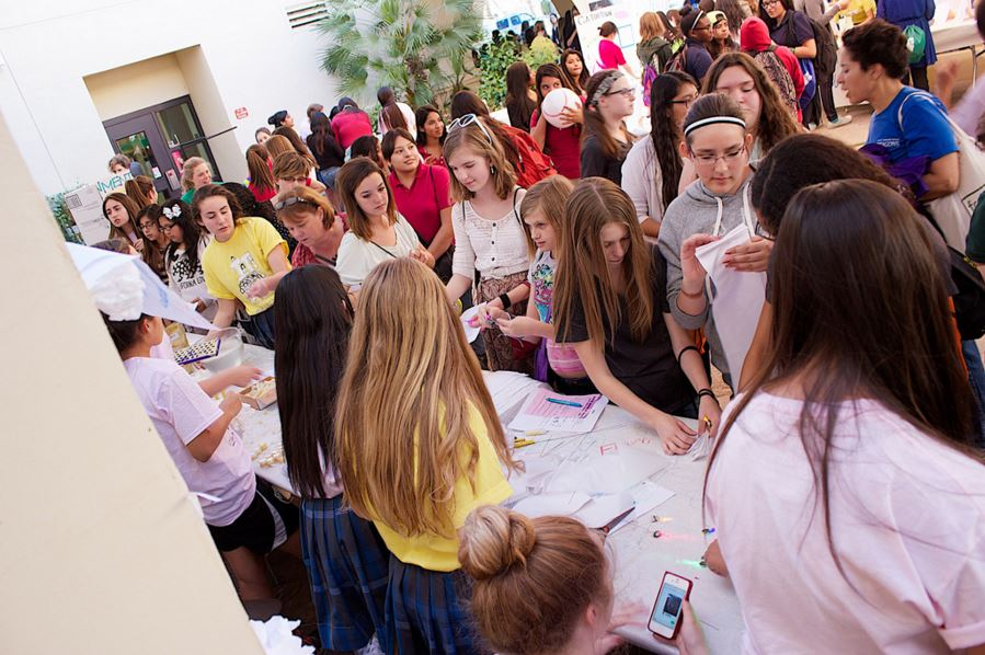Students Taking Part In Girls Have IT Day! In 2015. Photo Courtesy Xavier College Preparatory
