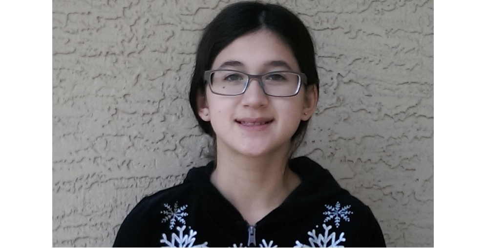 Nicola Ferguson, A 7th Grade Student At Sunrise Middle School, Won The Regional II Spelling Bee Held Thursday, February 18th. Nicola Advances To The State Spelling Bee To Be Held At 1 P.m. On Saturday, March 19th At The Arizona PBS Studios. Photo Courtesy Paradise Valley Unified School District