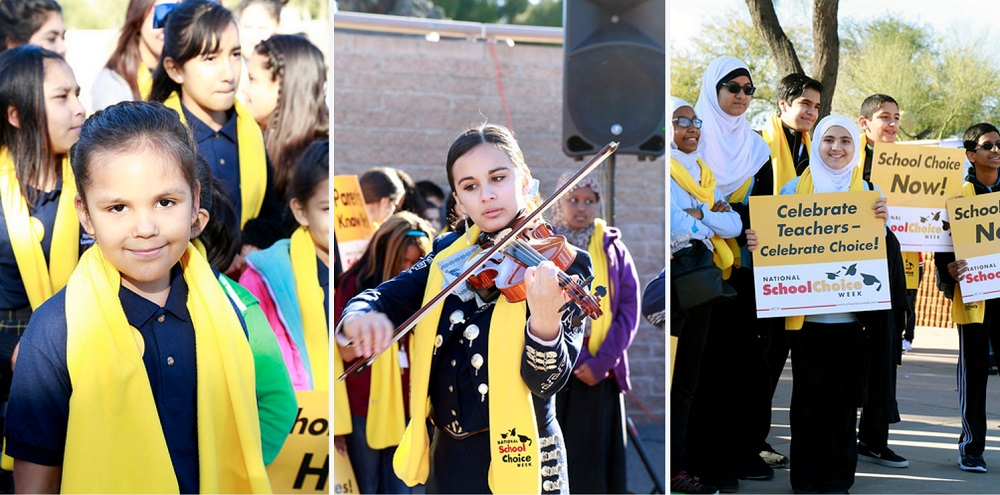 Districts showcased at state-wide school choice celebration SchoolChoiceWeekStudentsCapitolHP