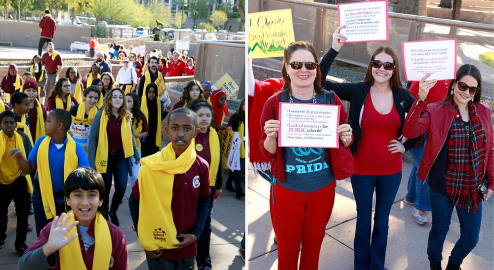 Districts showcased at state-wide school choice celebration, + Video StudentsParentsAtRallyInside