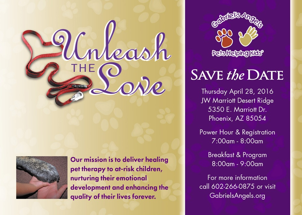Gabriel's Angels hosts fundraiser to benefit at-risk youth UnleashTheLoveInvite