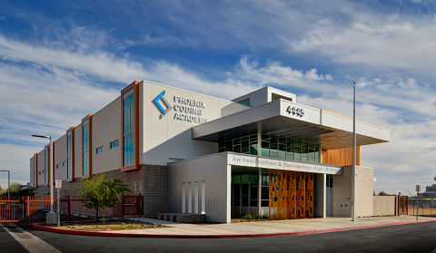 Ribbon-cutting, Dedication for Phoenix Coding Academy High School exterior-480x242
