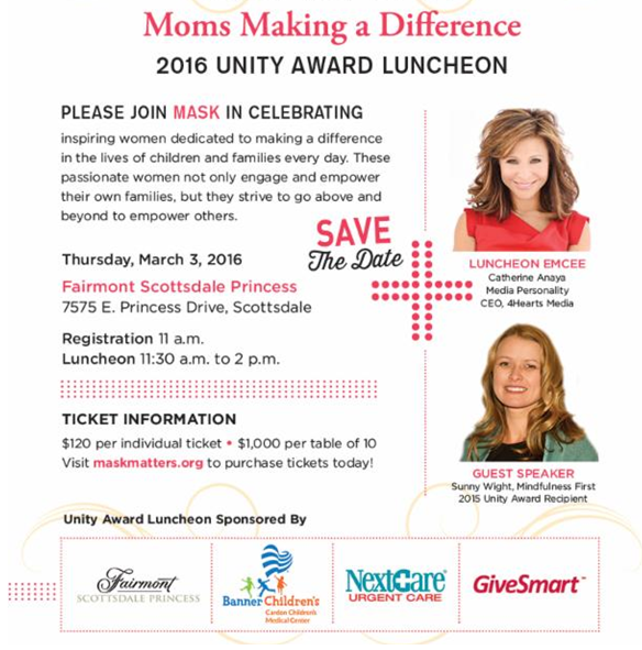 Mom's Making a Difference: 2016 Unity Award Luncheon snip