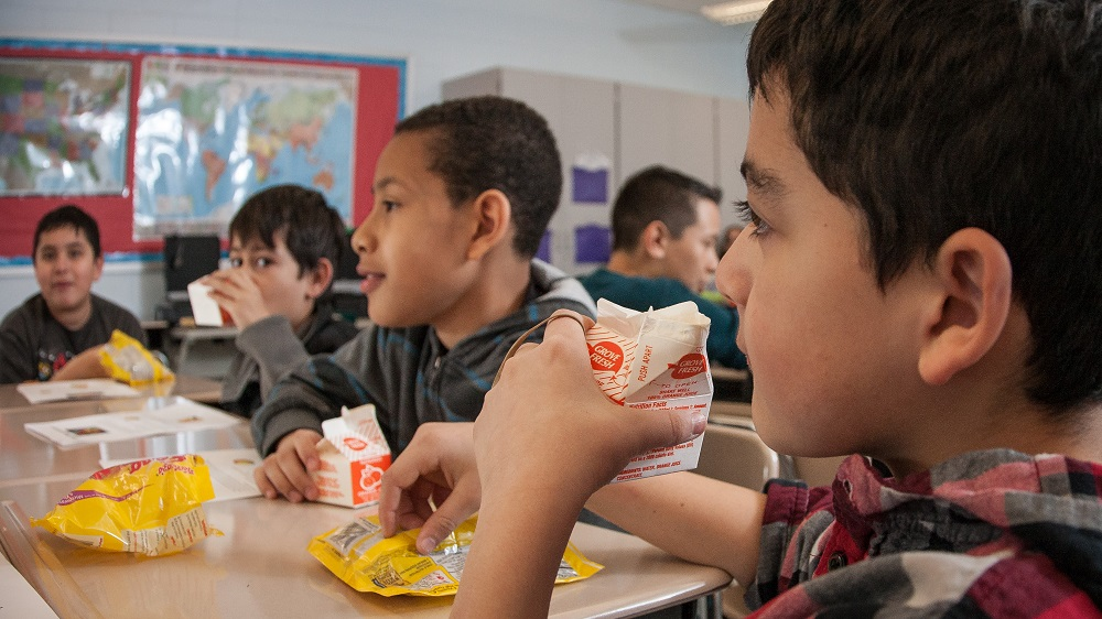 More districts adding free breakfast to the school day BreakfastInTheClassroomBoys