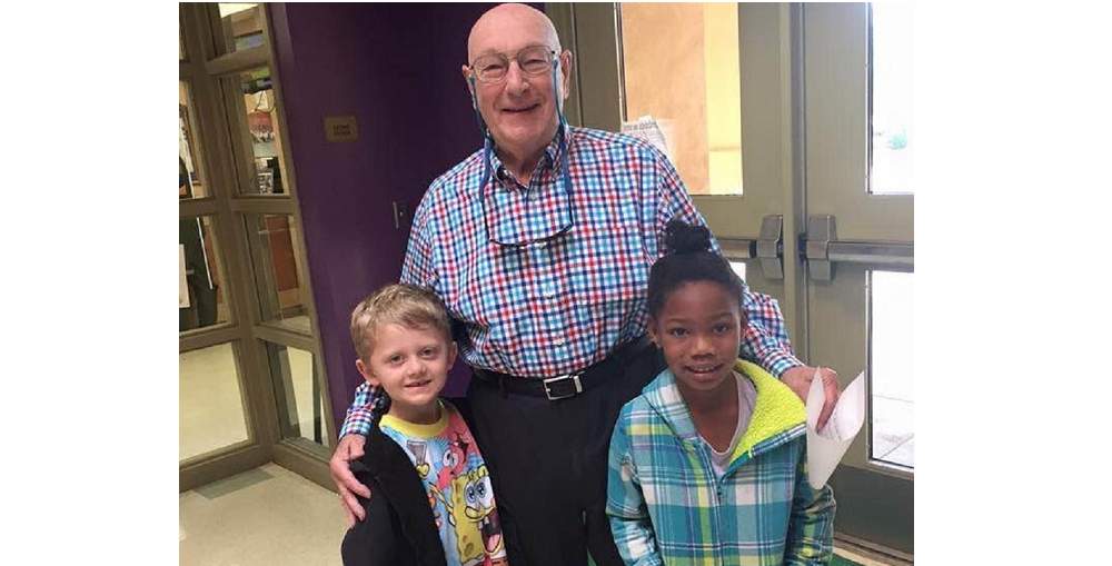 From Left To Right: Zachary Engals, Dr. Bill Robey, And JiNelle Melvin After Dr. Robey Read To The Students At Barbara B Robey Elementary On March 1st As Part Of The School's Celebration Of Read Across America And Dr. Seuss's Birthday. Photo Courtesy Litchfield Elementary School District