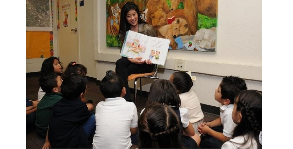 Kristi Yamaguchi Reads To Students As Part Of Her Ongoing Efforts To Aid Early Childhood Literacy Through Her Always Dream Foundation. Photo Courtesy Of Always Dream Foundation