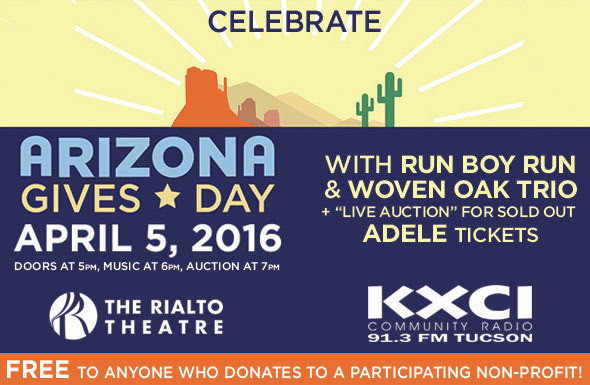 For Arizona Gives Day, 91.3 KXCI encourages people to support local nonprofits Arizona-Gives-Day-Rialto-Run-Boy-Run-Graphic