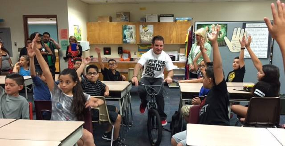 Olympic Medalist In BMX Racing Visits Liberty Elementary Student