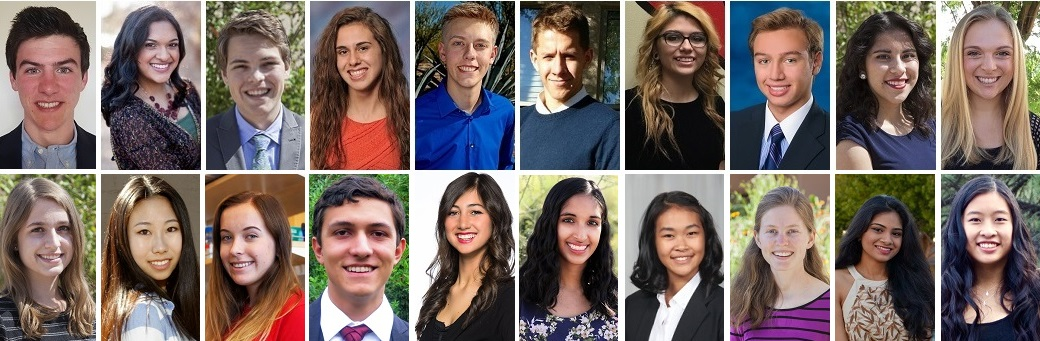 The 2016 Flinn Scholars From Left To Right. Top Row: Aidan McGirr, Anagha Deshpande, Andrew Roberts, Bailey Lockwood, Cameron Carver, Colton Flowers, Emmi Torres, Enrique Favaro, Ivette Montes And Kara Dunn. Bottom Row: Maeve Kennedy, Maggie Zheng, Matha Kiela, Martín Blair, Nicole Bratsch, Rohini Nott, Tina Peng, Toni Marcheva, Vaibhavi Mohan And Yisha Ng. Photos Courtesy The Flinn Foundation