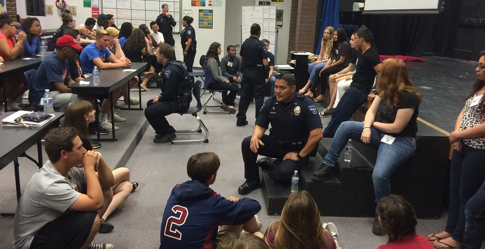 Students From The Tempe Union High School District And Officers From The Tempe Police Department Came Together In A Unique Way To Talk About The Fallout From Recent High Profile Events In Places Like Baltimore, New York And Ferguson That Have Spotlighted Interactions Between Police Officers And Youth And Sparked National Discussions On Racism. Photo Courtesy Tempe Union High School District