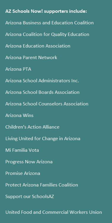Education leaders echo voters' desire for funding beyond Prop. 123 AZ-Schools-Now-Sidebar