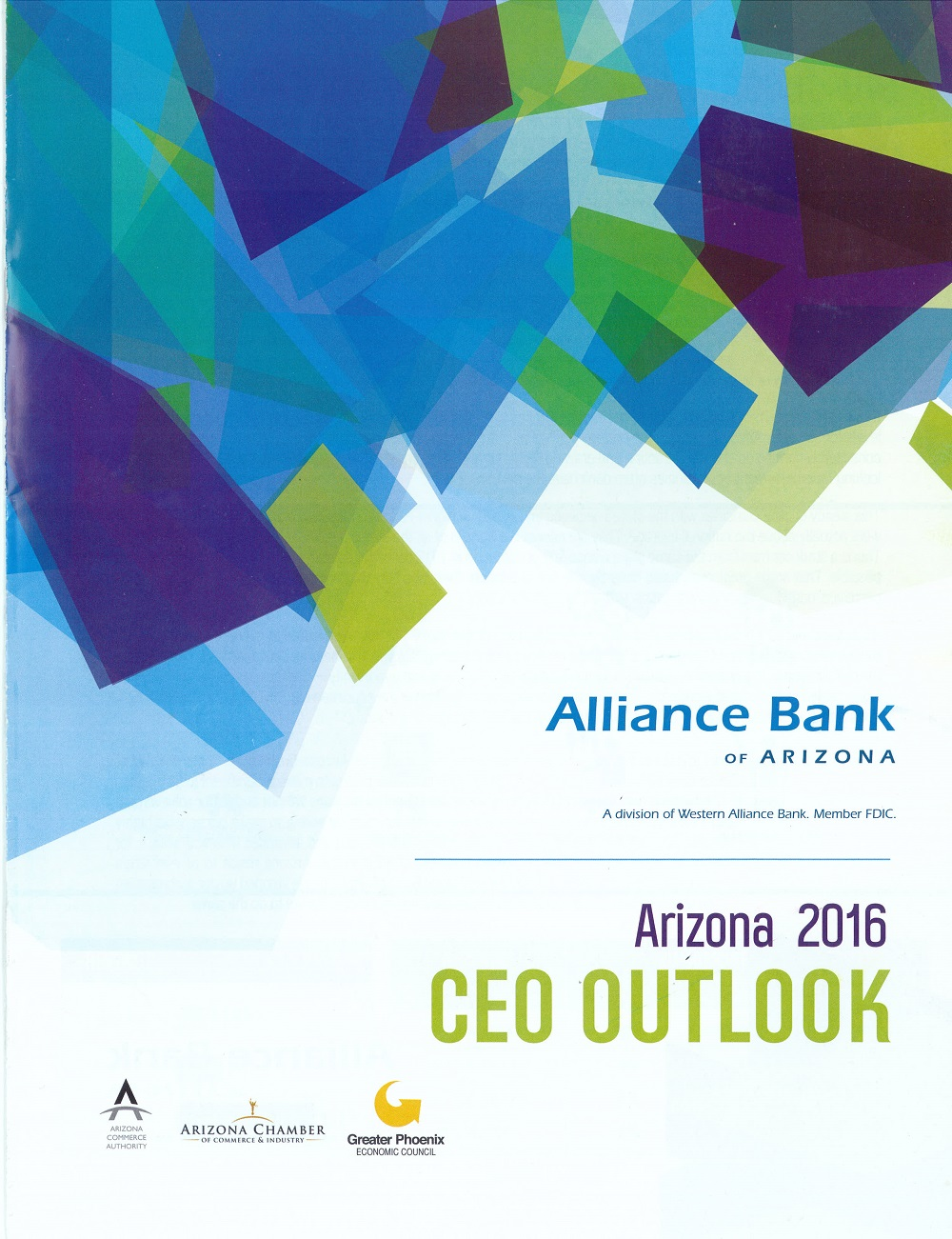 Alliance Bank CEO Jim Lundy lays it on the line: 'We need more education funding' AllianceBankOfArizonaArizona2016CEOOutlooREPORT-COVER