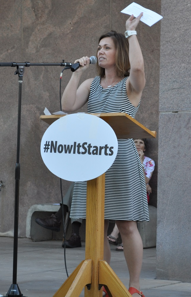 Community comes together to support education at #Now It Starts rally JenDarland