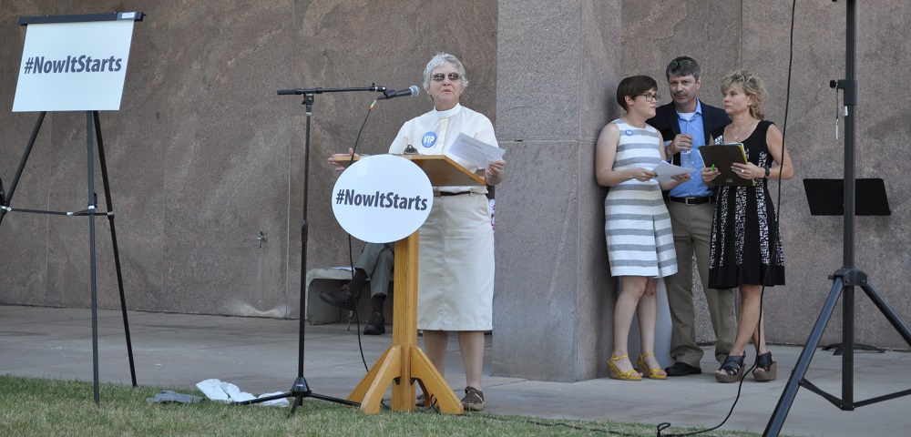 Community comes together to support education at #Now It Starts rally RevMarthaSeaman