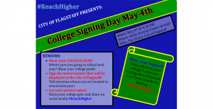 Flagstaff hosts college signing day for all high school seniors flyer-300x154