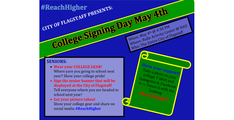 Flagstaff Hosts College Signing Day For All High School Seniors