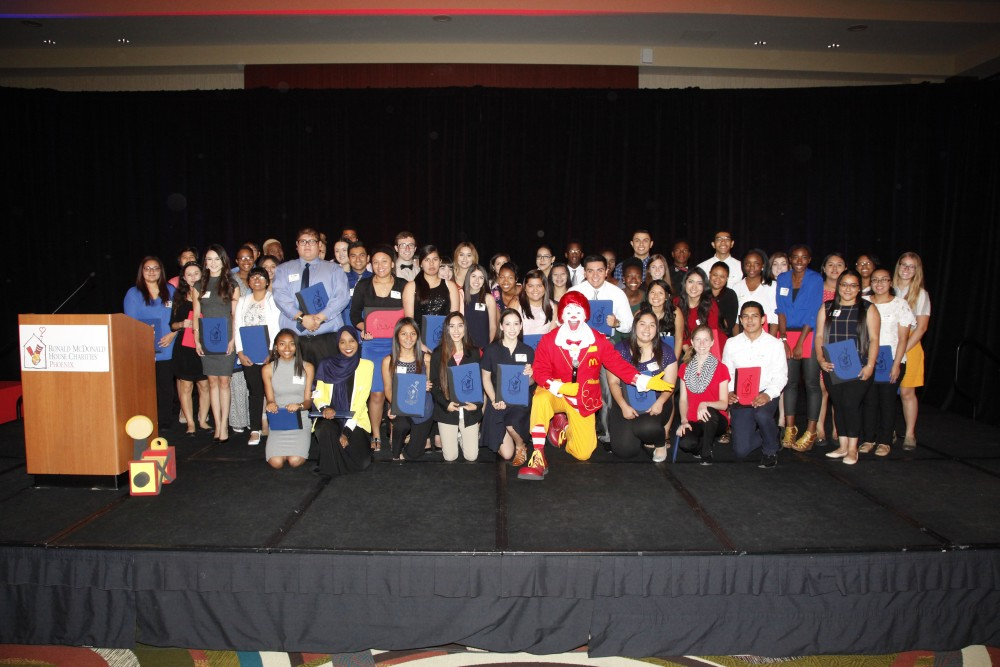 Ronald McDonald House Charities (RMHC) Of Phoenix, With The Support Of The McDonald's Owner/Operators Of Phoenix And Northern Arizona, Awarded $250,000 In College Scholarship To 100 Arizona High School Students. The RMHC Scholarship Recipients Were Honored On June 3rd At The RMHC Phoenix Scholarship Breakfast At The Sheraton Phoenix Downtown Hotel.  This Program Is One Of The Largest Scholarship Programs Available To Arizona High School Seniors.