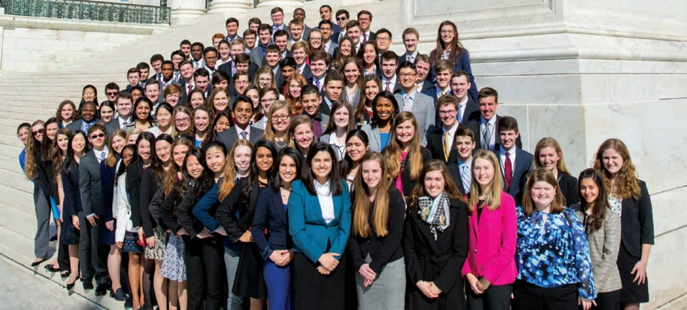 U.S. Senate Youth Program Participants. Photo Courtesy Of U.S. Senate Youth Program