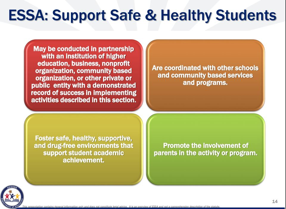 How the Every Student Succeeds Act will impact Arizona's schools Suport-Safe-Healthy-Students