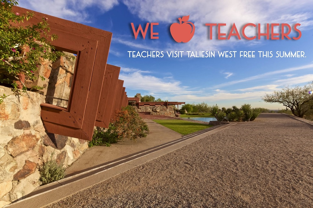 Teachers invited to tour Taliesin West for free through August 7 TaliesinWestForTeachers