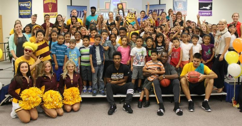 6,000 third graders receive backpacks in assist from NCAA Final Four NCAABackpacksLomaLinda