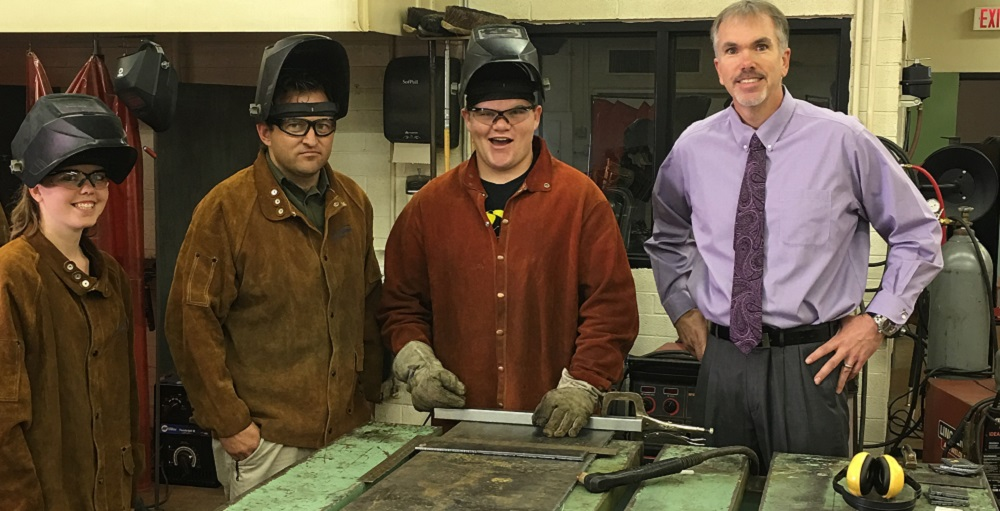 Shortage has school leaders attracting teachers in new ways BryanFieldsAndWeldingClassHP