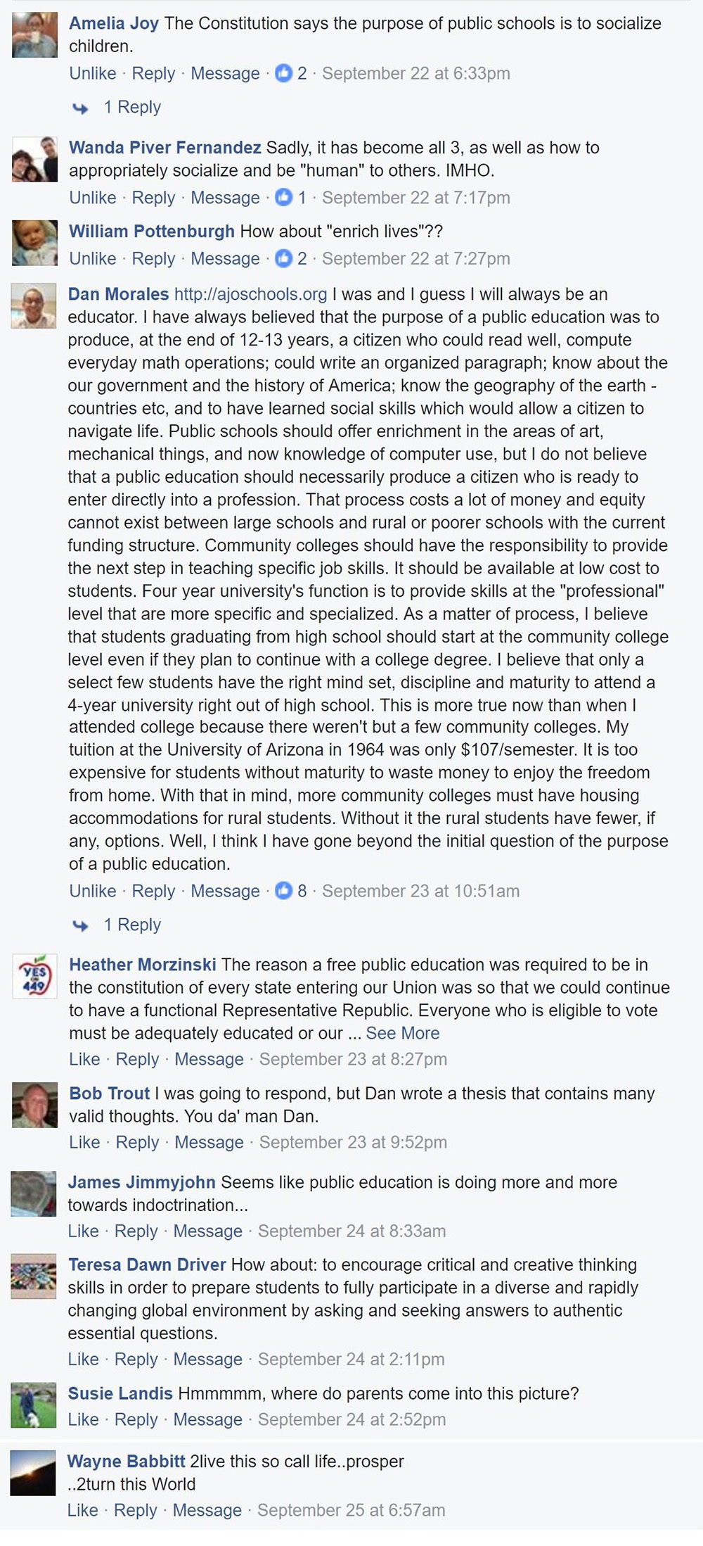 Americans speak up on purpose of a public school education (+ Infographic) SocialMediaCommentsPDKPollFinal