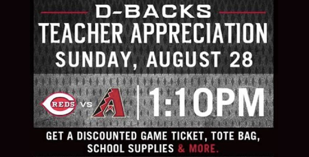 Arizona Diamondbacks Teacher Appreciation
