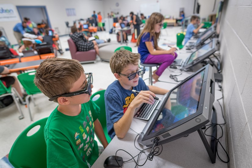 Students Learn In A Personalized Setting At The Innovation Academy.