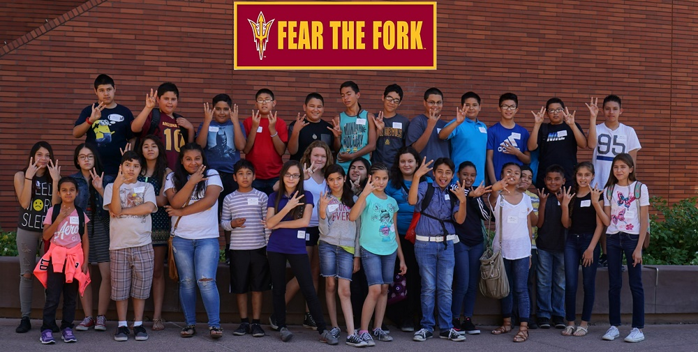 Laveen Students Visit ASU Campus . Photo Courtesy Of Laveen Elementary School