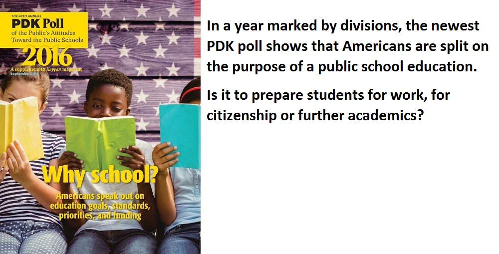 Report Cover And Text Courtesy The 2016 PDK Poll