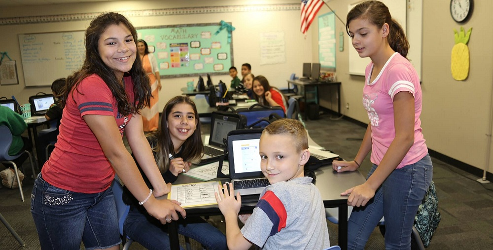 Students Working On Their Laptops In Class. Photo Courtesy Sunnyside Unified School District