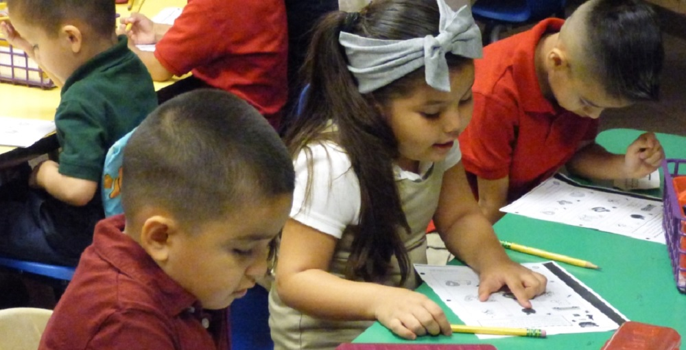 Kindergartners Doing Classwork. Photo Courtesy Of Union Elementary School District