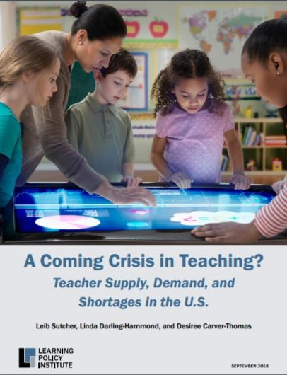 Report: Low supply, high demand for teachers causes stress on schools (+ Infographic) AComingCrisisInTeachingReportCoverInside