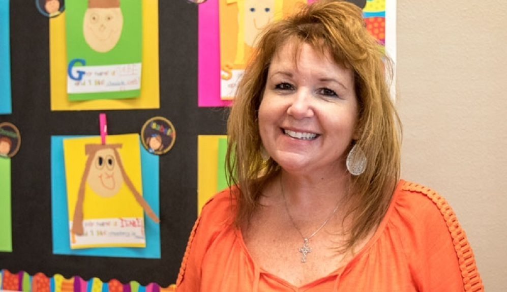 Kindergarten Teacher Kelly Castaneda Smiles In Her Classroom Sept. 6 At Sienna Hills Odyssey Preparatory Academy In Buckeye. Castaneda Has Returned To Teaching After Discovering A Brain Tumor A Year Ago That Resulted In Several Surgeries, Hospitalizations And Trips To The Emergency Room. Photo Courtesy Of Jordan Christopher/ West Valley View