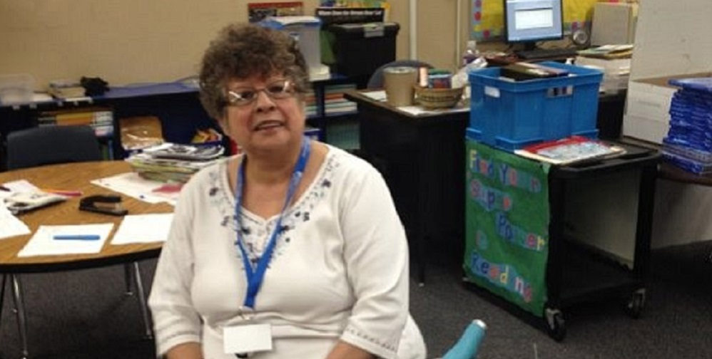 Lupe Natividad Volunteers At Kingman Unified School District. Photo Courtesy Kingman Unified School District