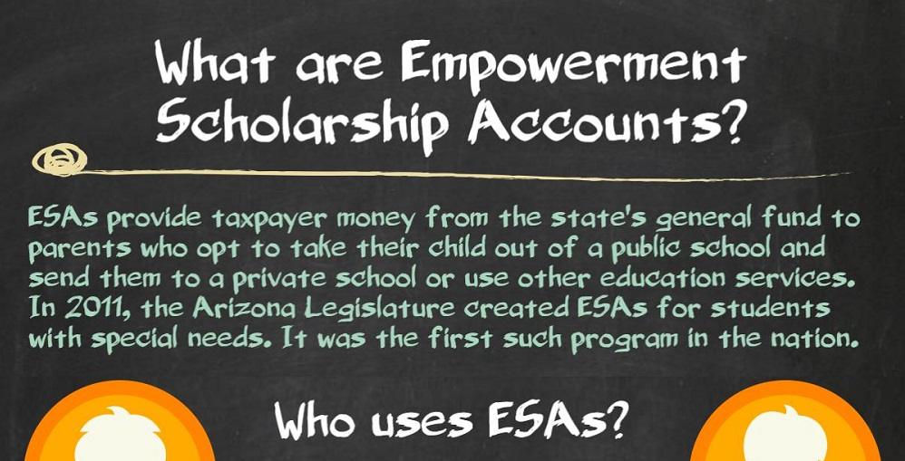 AZEdNews Infographic Home Page Image: What Are ESAs? By Lisa Irish/AZEdNews