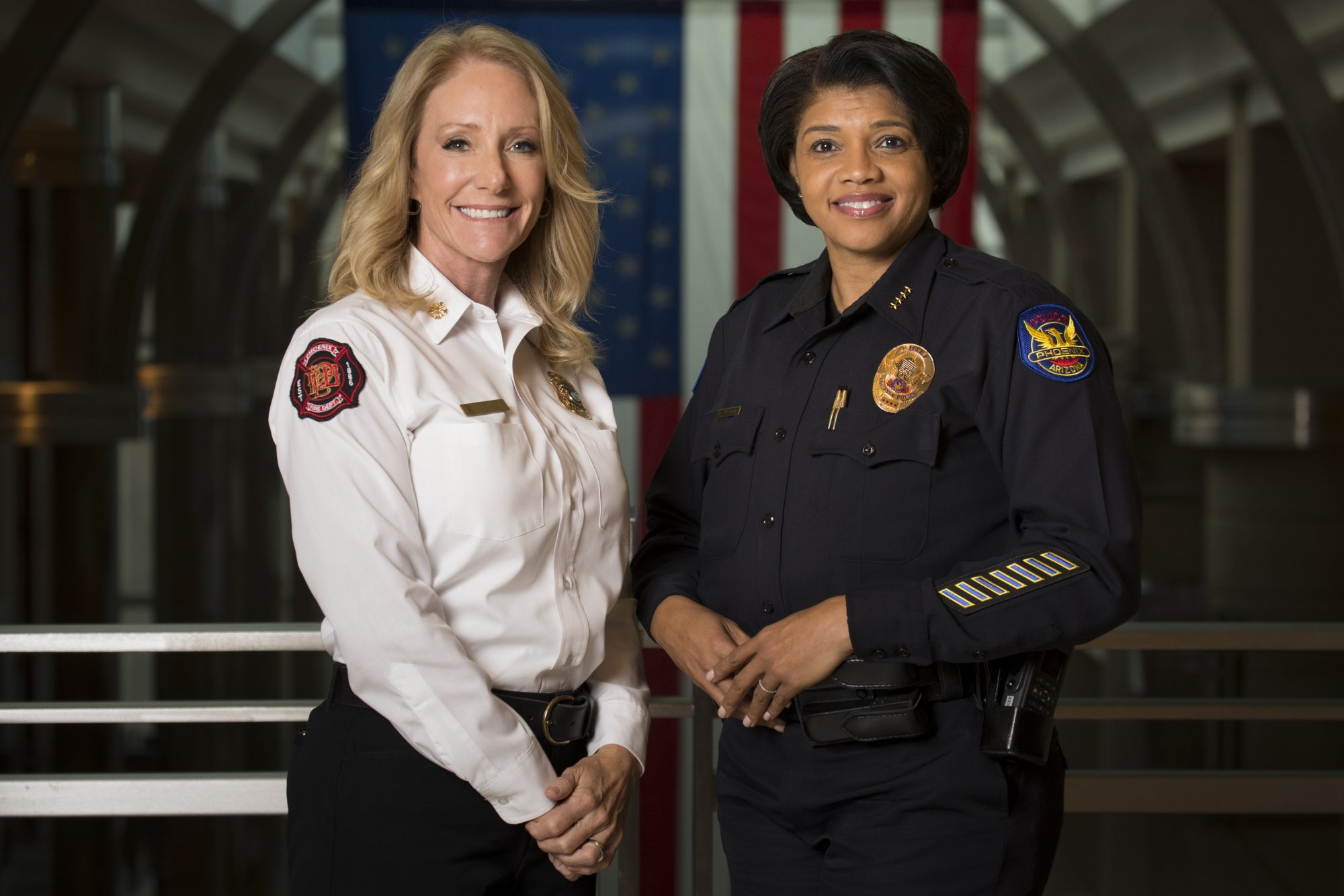 PHX Fire Chief Kara Kalkbrenner PHX Police Chief Jeri Williams 1216