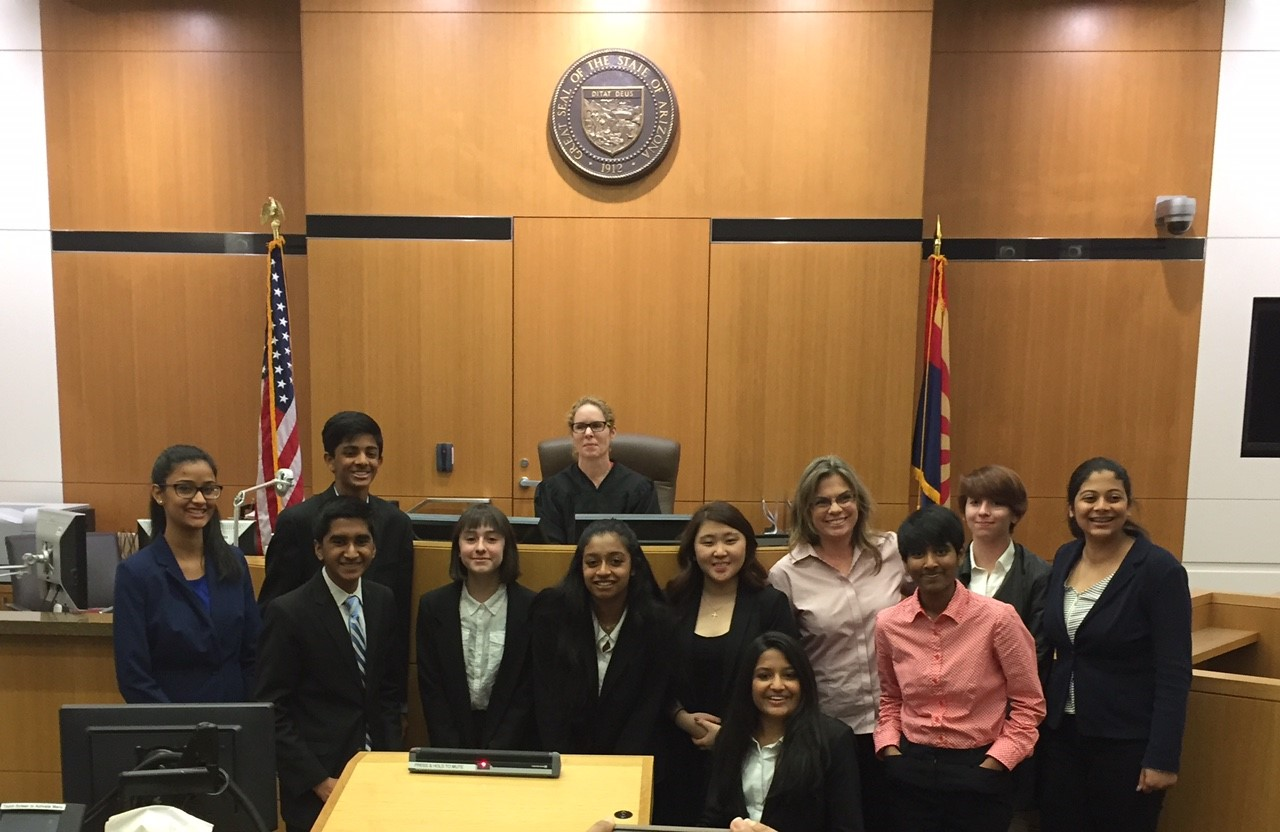 Congratulations To All Of The Students Who Took Part In The Regional Mock Trial Tournament At Maricopa Superior Court On March 4!