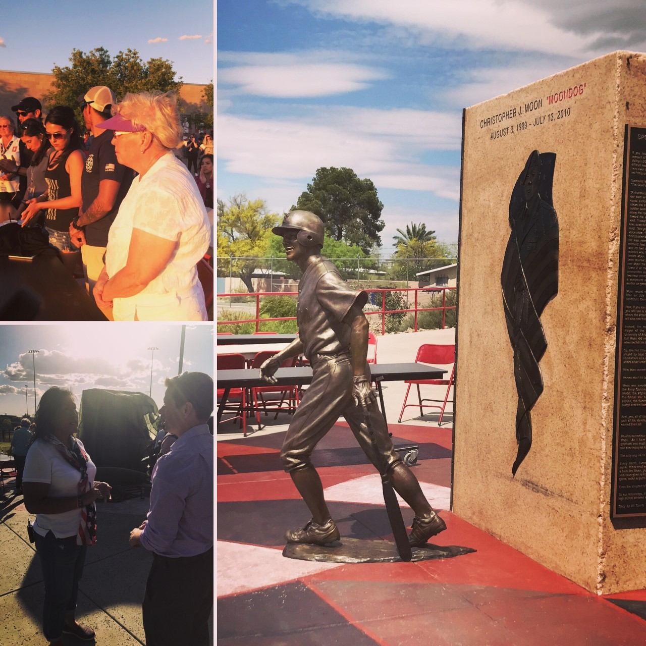 Memorial To Chris Moon Unveiled At Tucson High Magnet School