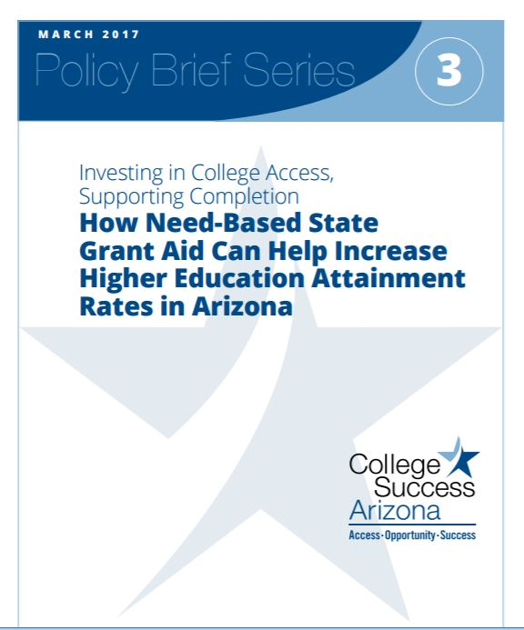 Report calls for policymakers to lower financial barriers for college attainment StateGrantAidPolicyBrief3Cover